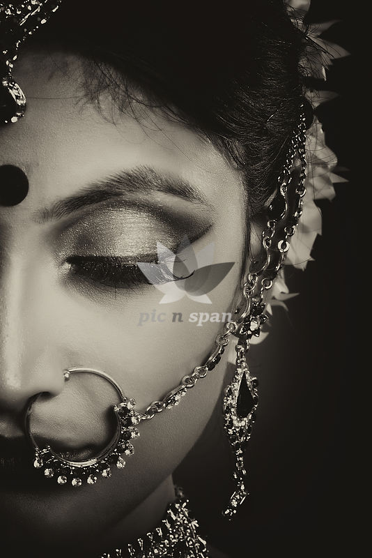 Close up of Bride - Royalty free stock photo, image