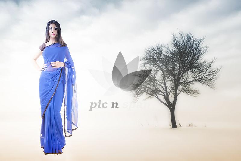 Glory of Blue - Royalty free stock photo, image