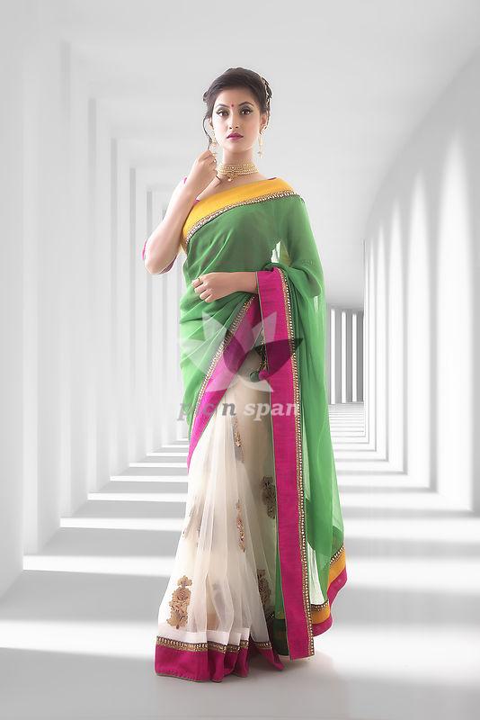 Indian Saree - Royalty free stock photo, image
