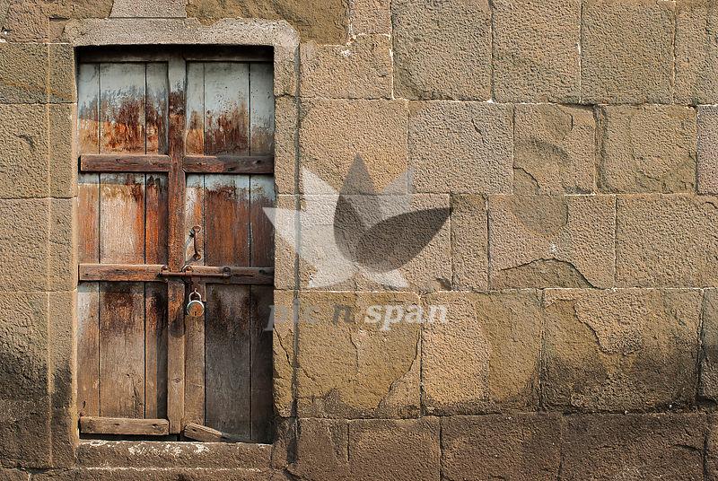 The closed door of shaniwarwada - Royalty free stock photo, image