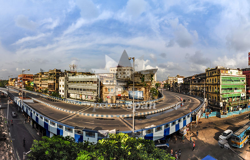 Kolkata Flyover - Royalty free stock photo, image