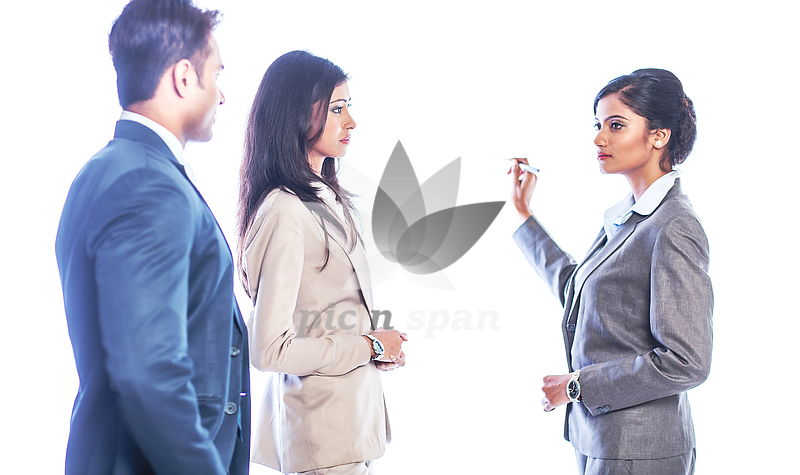 Team meeting - Plan discussion - Royalty free stock photo, image