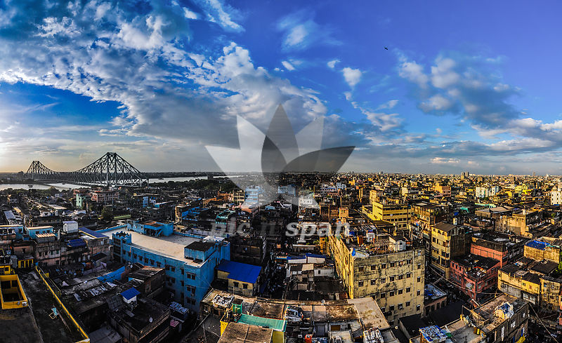 Kolkata skyline - Royalty free stock photo, image