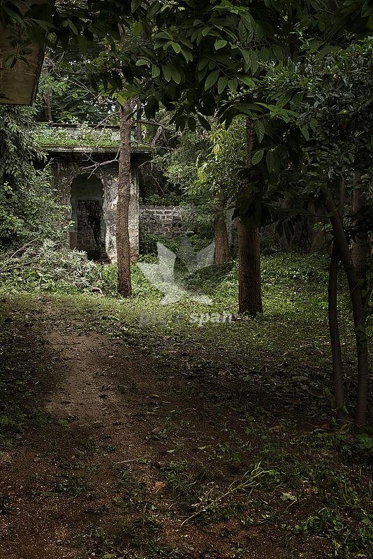Paigah Tomb ruins - Royalty free stock photo, image