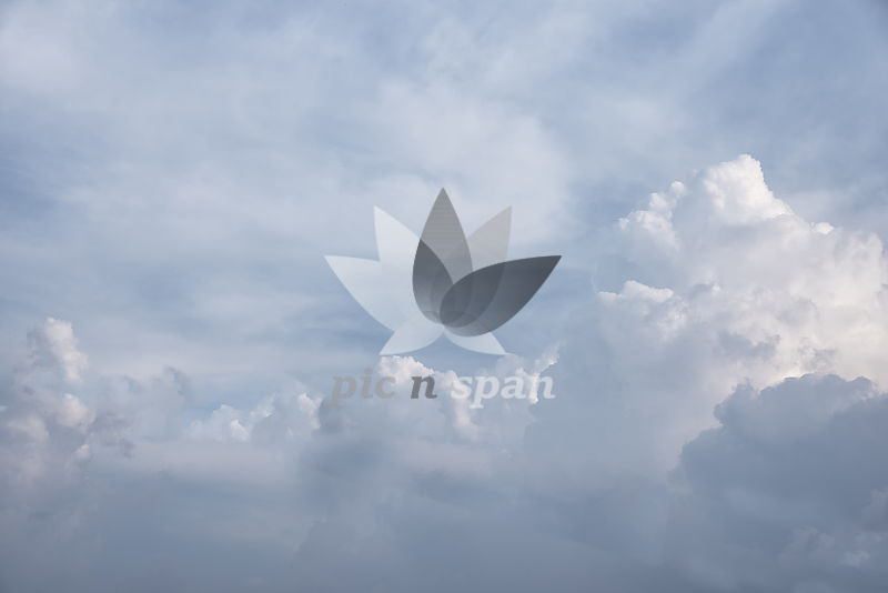 Freedom of clouds - Royalty free stock photo, image