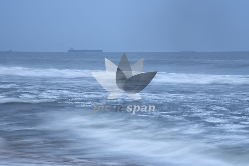 Rhythm of Ocean waves - Royalty free stock photo, image
