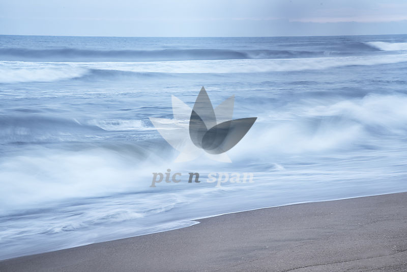 Rhythm of Ocean waves - Royalty free stock photo, image